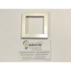 PLACA INTERMEDIA 2 MODULOS BLANCO