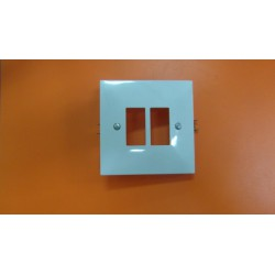 placa rectangular blanca 143