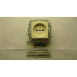 ENCHUFE 2P S/UNE 20315-94 10-/6A/250V SERIE LISSA BLANCO MARFIL