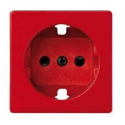 Tapa con dispositivo de seguridad para la base de enchufe schuko rojo Simon 82
