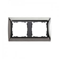 Marco acero oscuro 2 elementos 82824-67 serie grafito Simon