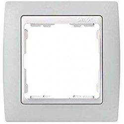 Marco para 1 elemento gris interior blanco Simon 82 82611-33