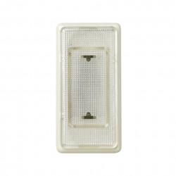 Señalizador luminoso de medio elemento con rosca mignonnette E-10 marfil y tapa difusora incolora