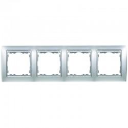 Marco para 4 elementos aluminio mate interior aluminio Simon 82 82944-33