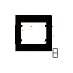 MARCO 2 ELEMENTOS VERTICAL GRIS CENIZA 22102-GCC