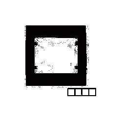 MARCO 4 ELEMENTO HORIZONTAL GRIS CENIZA 22004-GCC