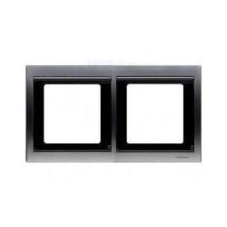 Marco 2 elementos horizontal titanio 8472.1tt serie Olas Niessen