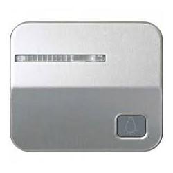 Tecla individual con visor y grabado luz para pulsador aluminio Simon 75 75016-33