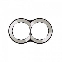 Simon 88 | Marco 2 elementos redondo cromado 100x171 SIMON 88620-33