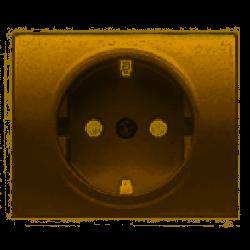 Tapa base enchufe seguridad bronce niebla BJC Mega 22724-BN