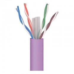 Cable UTP de categoría 6 Cu LSFH en color violeta en bobina de 305m 212310 de Televes
