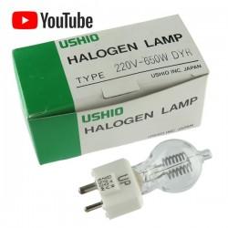 USHIO Halogena Lampara 220V-650W DYR japan