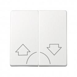 Tecla individual con grabado campana para pulsador blanco Simon 73 Loft 73017-60