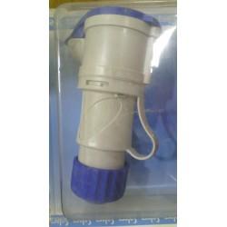 BASE MOVIL AZUL 2P+T 230V 32A-6H IP44